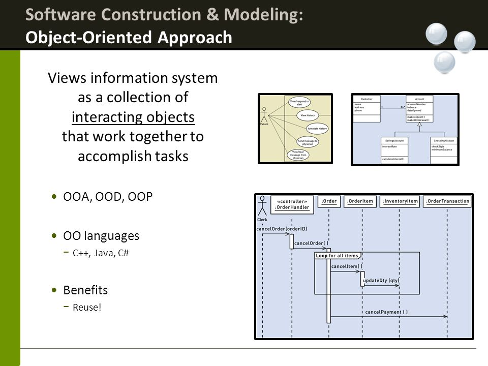 Software Construction & Modeling: Object-Oriented Approach
