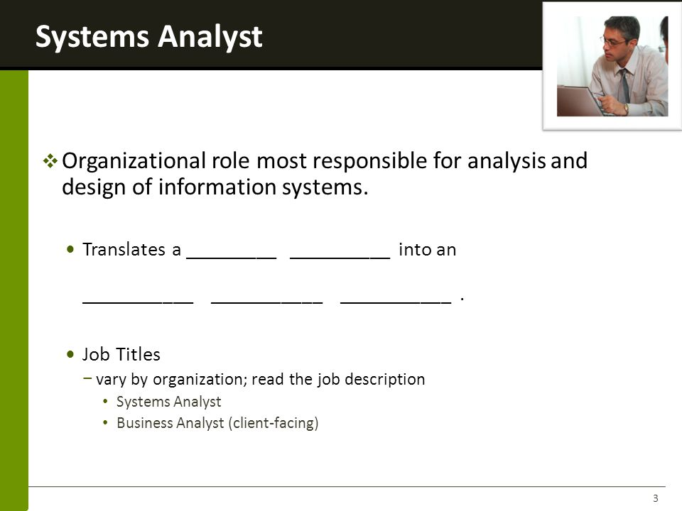 System Analyst Job Description. Cgi Usa Are Looking For An