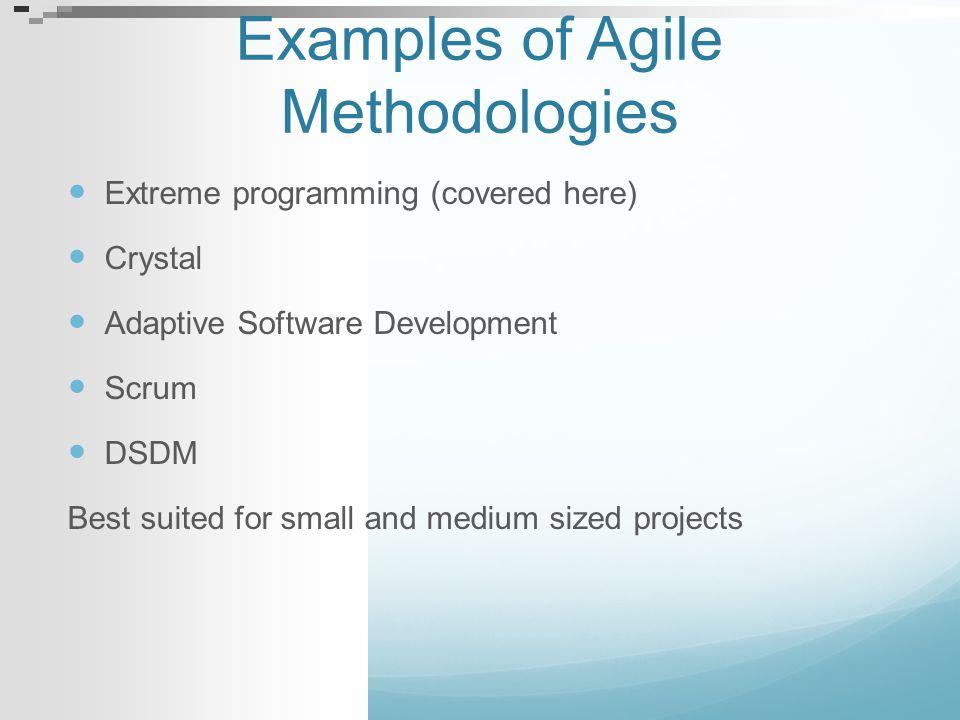 Examples of Agile Methodologies
