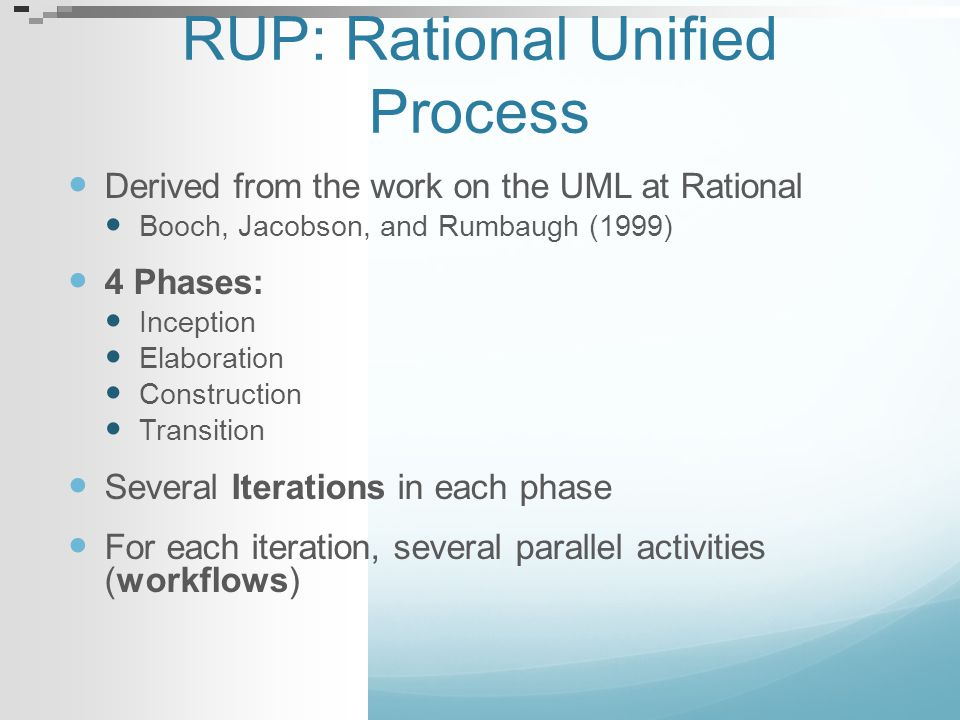 RUP: Rational Unified Process