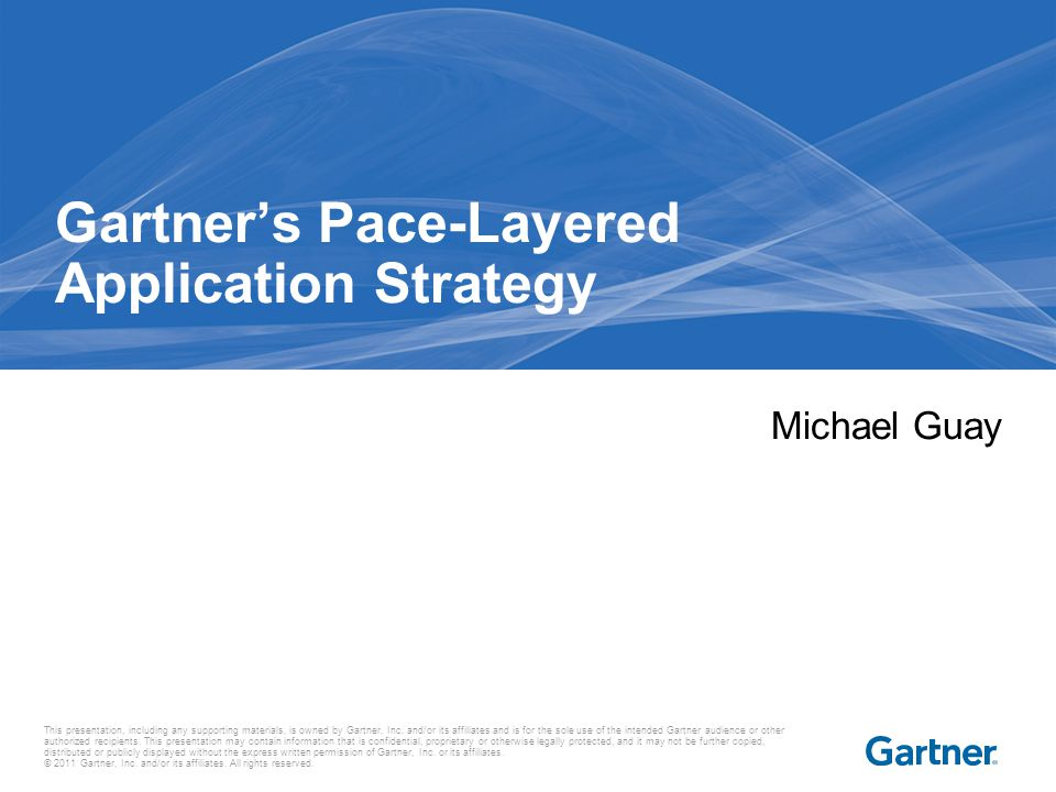 Gartner delivers the technology-related insight necessary for our clients to make the right decisions every day.