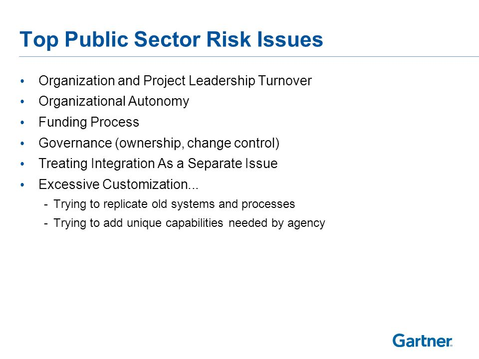 Public Sector Specific Recommendations