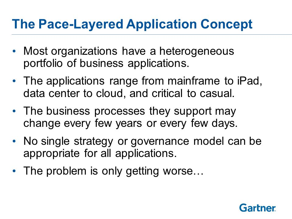 A Pace-Layered View of Applications
