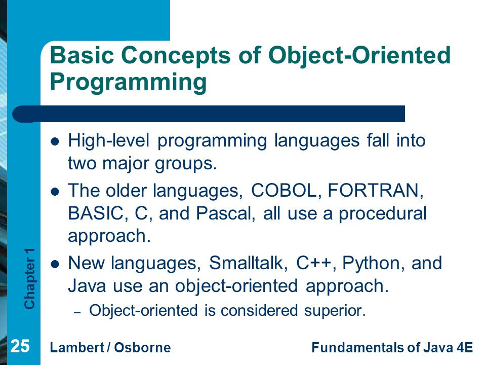 Basic Concepts of Object-Oriented Programming