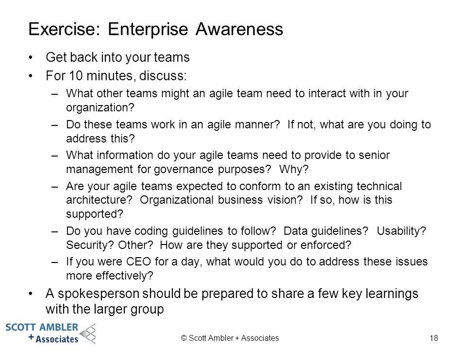 Exercise: Enterprise Awareness