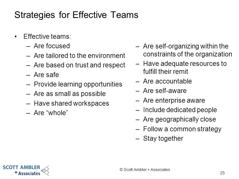 Strategies for Effective Teams