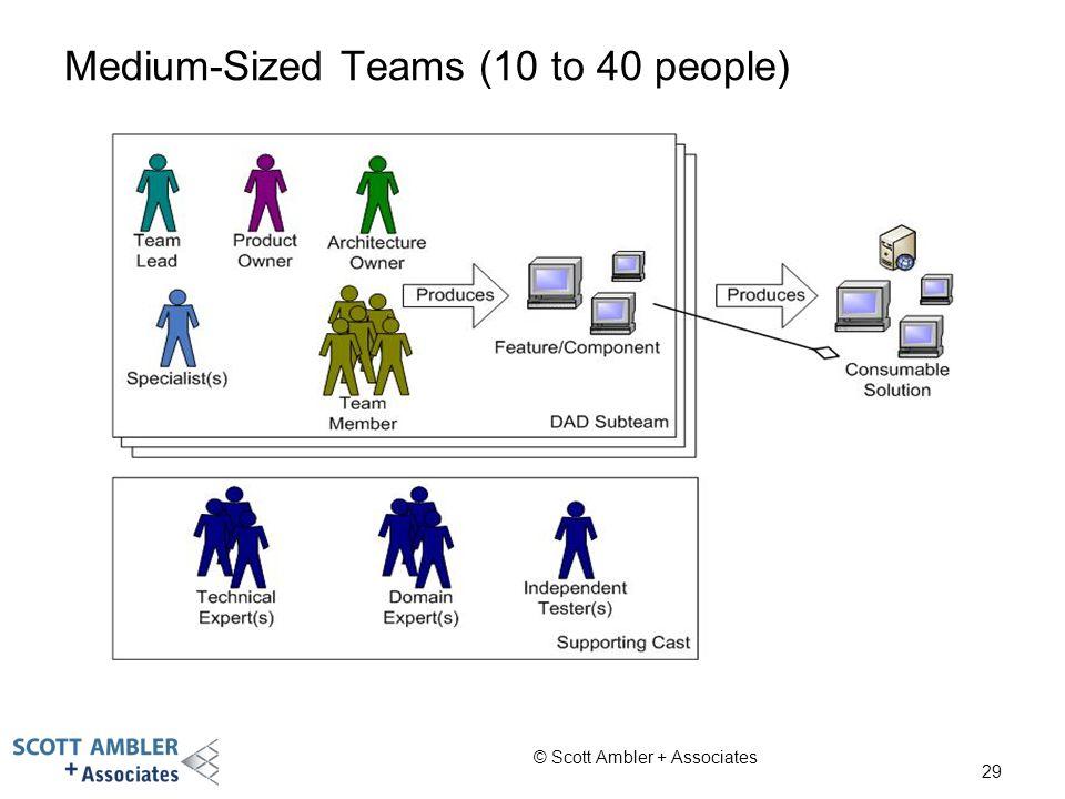 Medium-Sized Teams (10 to 40 people)