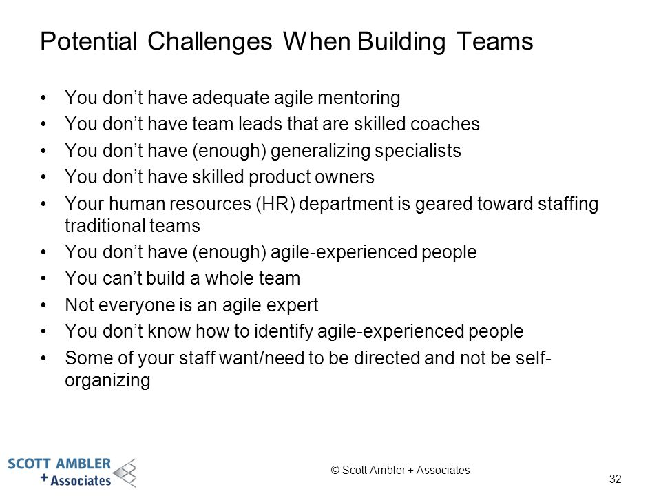 Potential Challenges When Building Teams