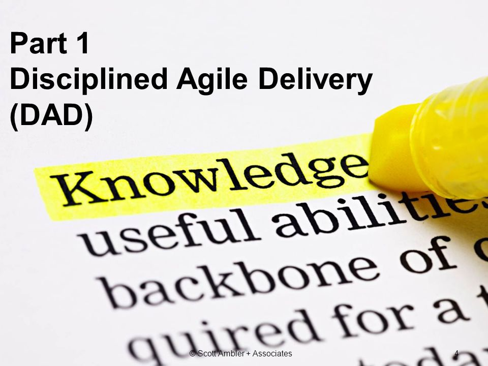 Part 1 Disciplined Agile Delivery (DAD)