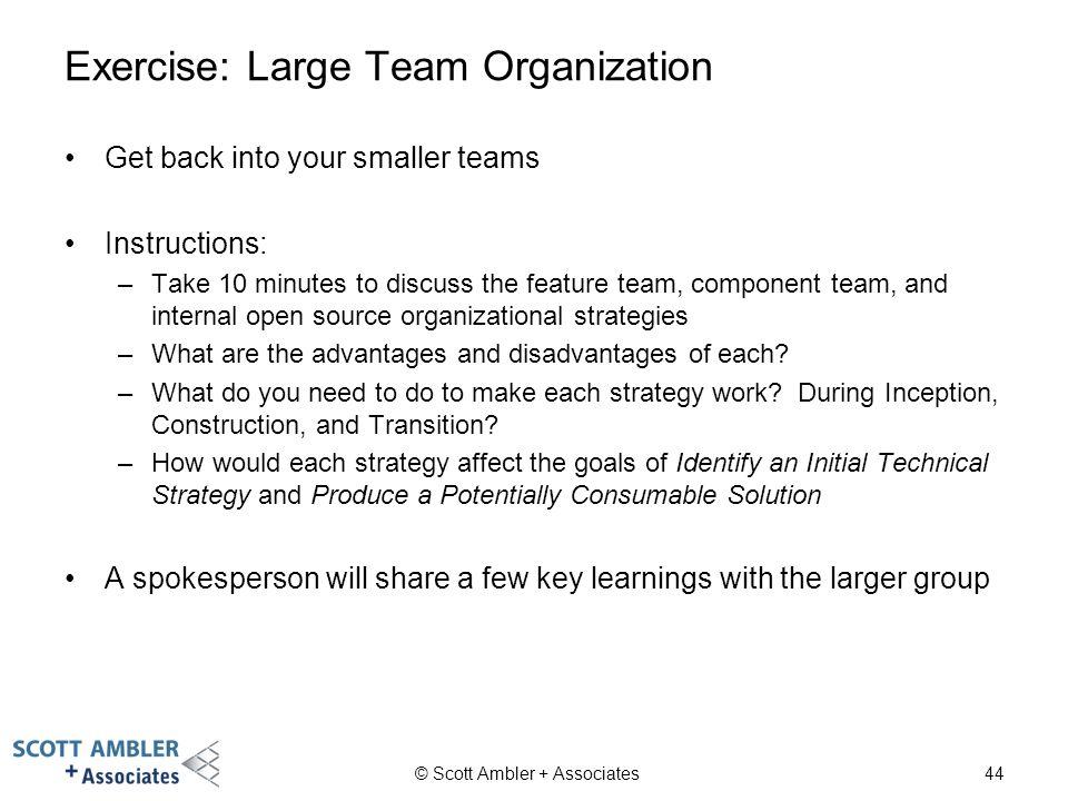 Exercise: Large Team Organization