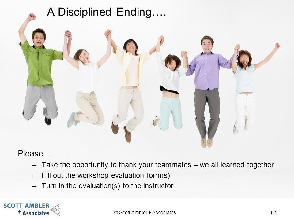 A Disciplined Ending…. Please…