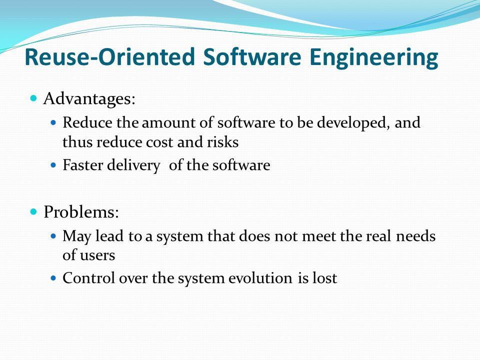 Reuse-Oriented Software Engineering