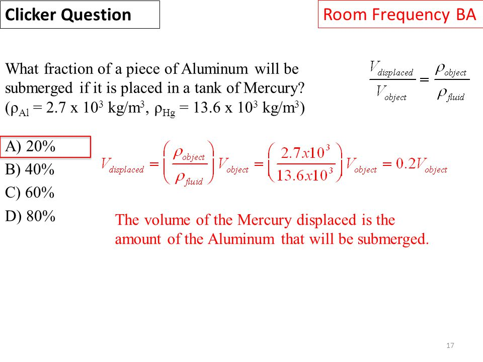 Clicker Question Room Frequency BA