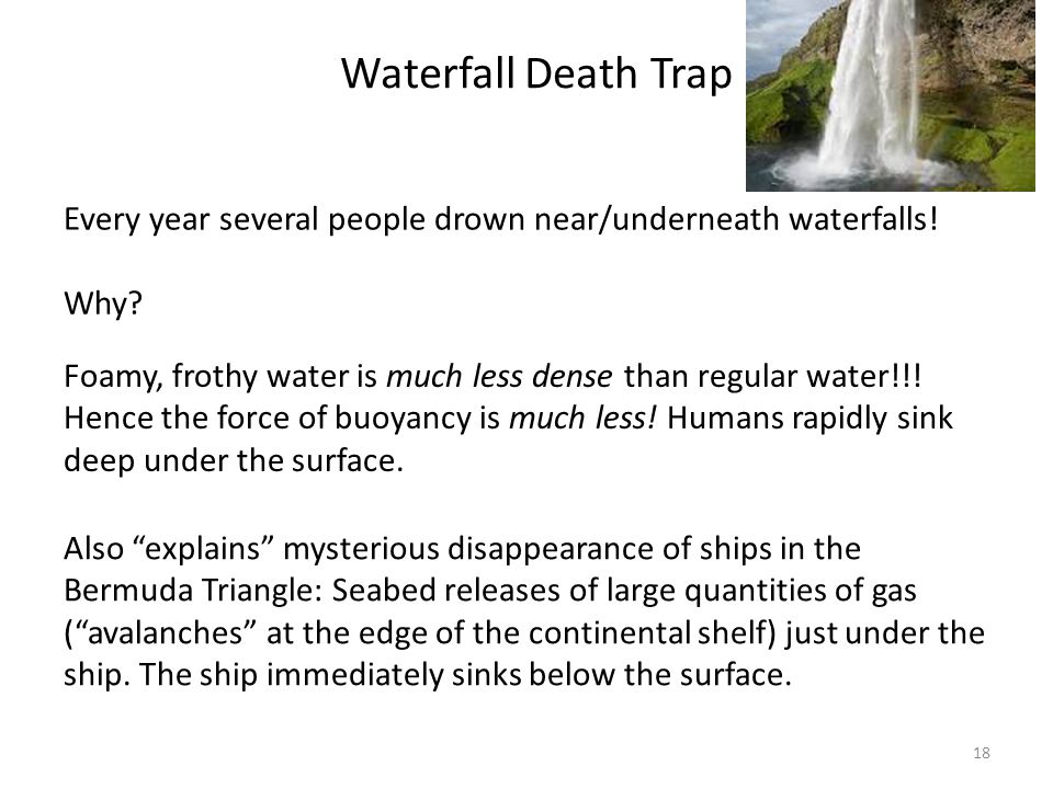 Waterfall Death Trap Every year several people drown near/underneath waterfalls! Why