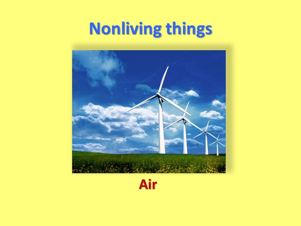 Nonliving things Air