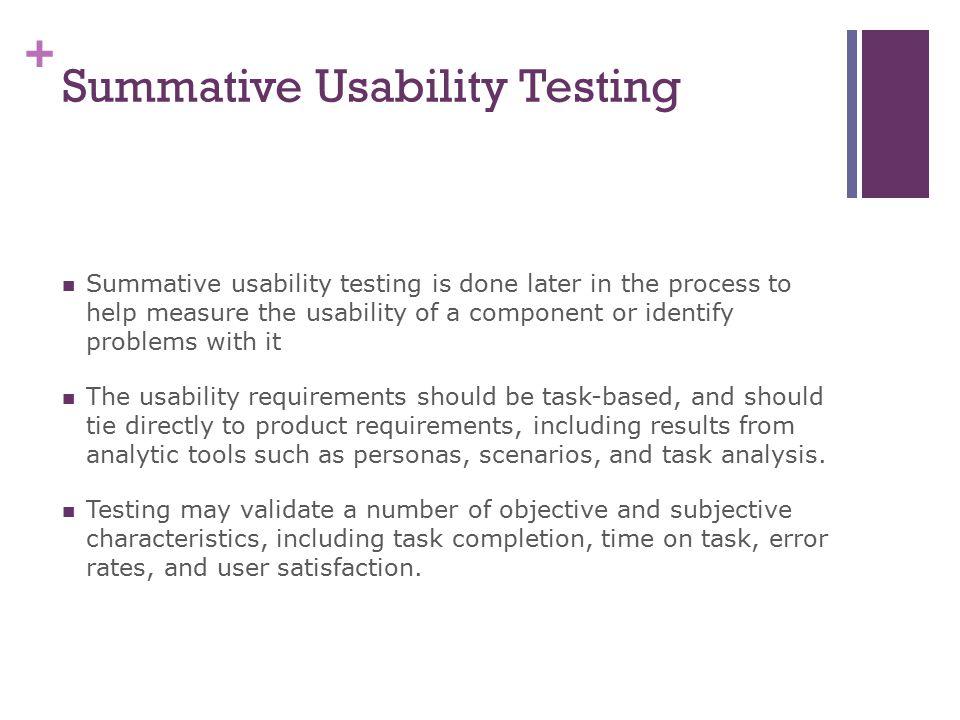 Summative Usability Testing