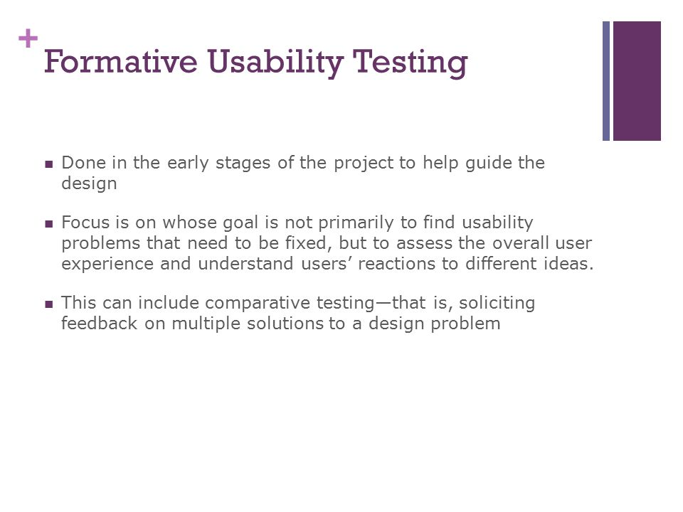 Formative Usability Testing