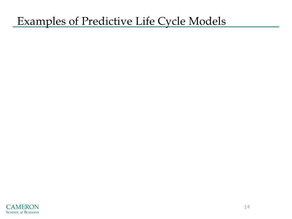 Examples of Predictive Life Cycle Models