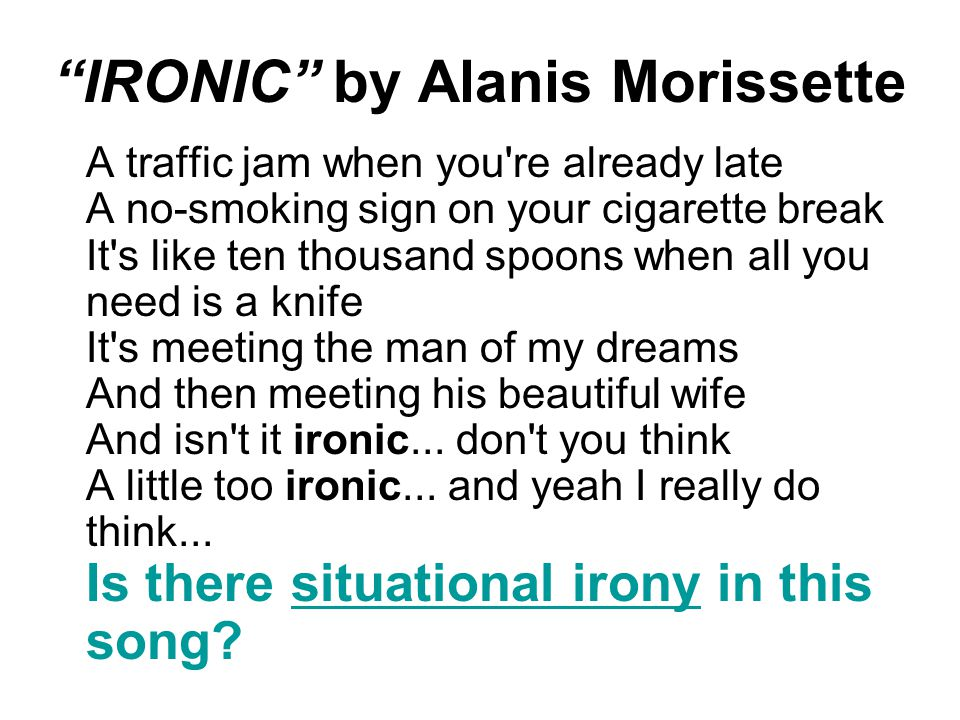 IRONIC by Alanis Morissette
