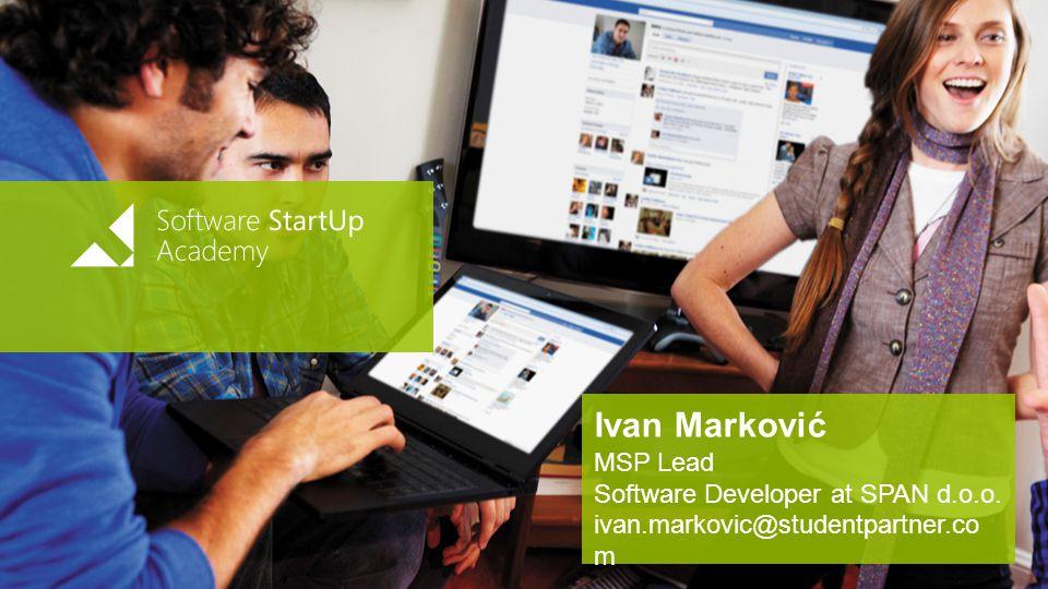 Ivan Marković MSP Lead Software Developer at SPAN d.o.o.