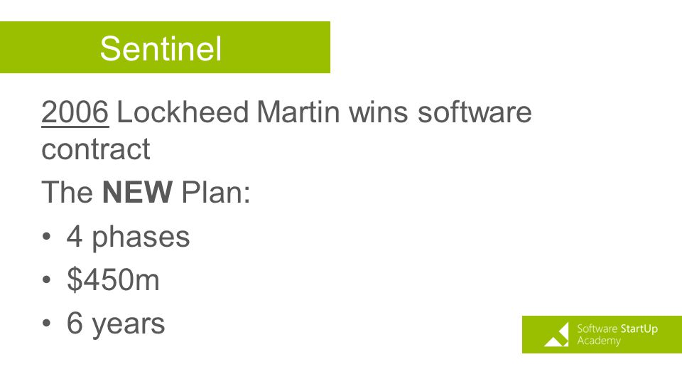 Sentinel 2006 Lockheed Martin wins software contract The NEW Plan: