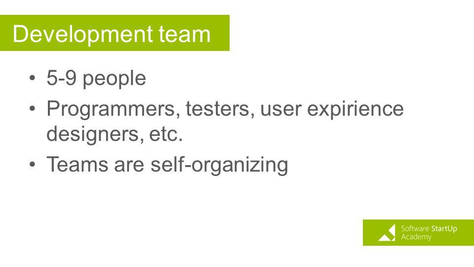 Development team 5-9 people