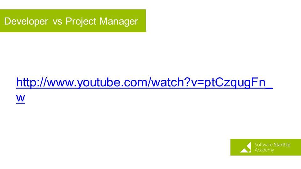 Developer vs Project Manager