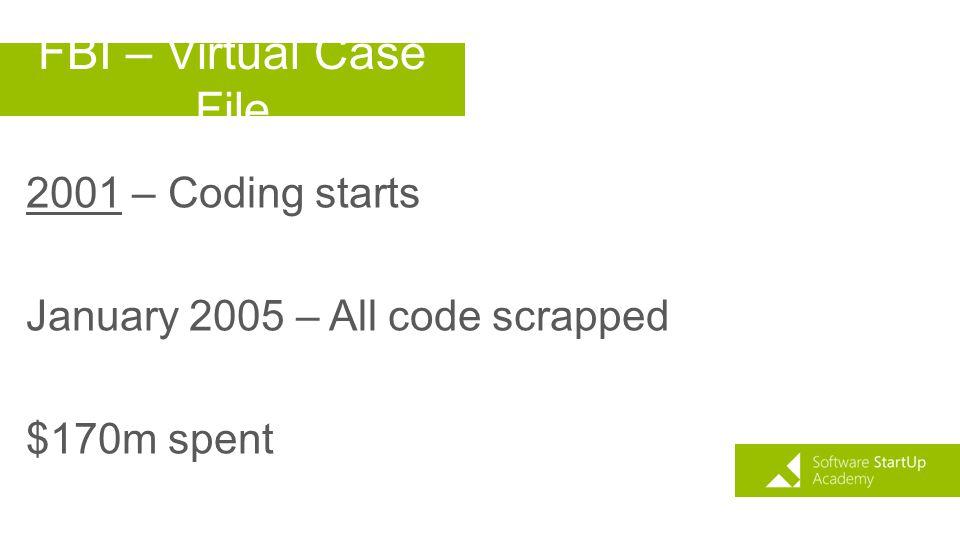 FBI – Virtual Case File 2001 – Coding starts