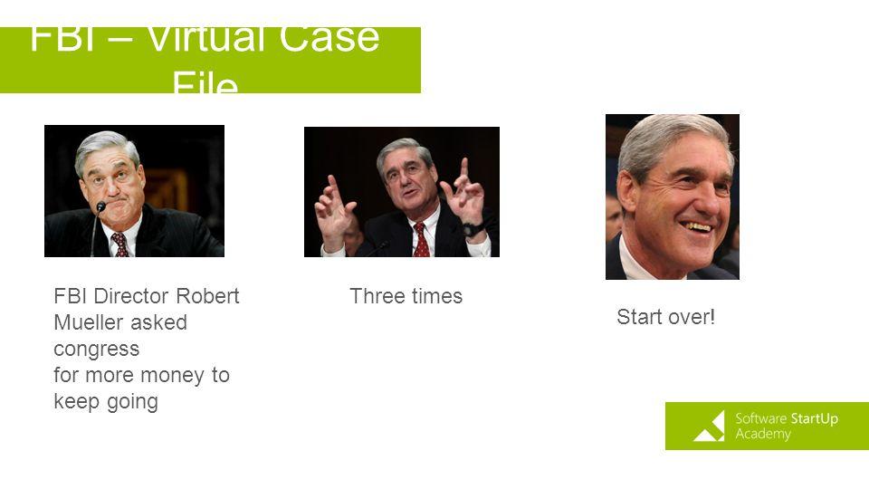 FBI – Virtual Case File FBI Director Robert Mueller asked congress