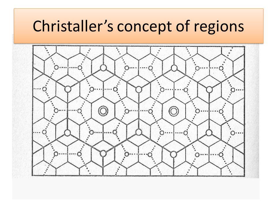 Christaller's concept of regions