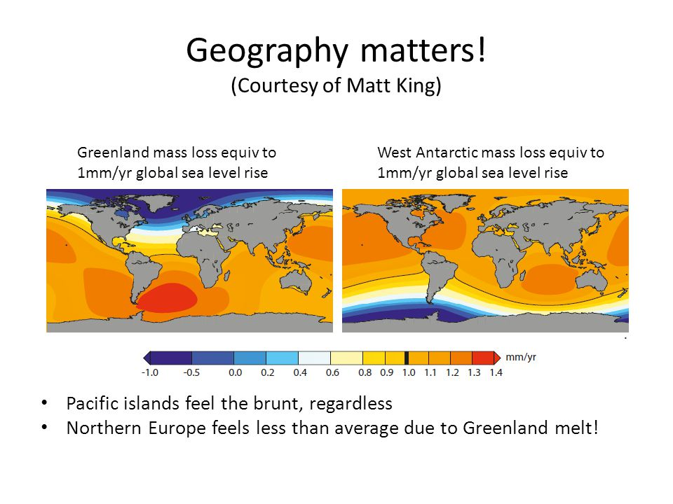 Geography matters! (Courtesy of Matt King)
