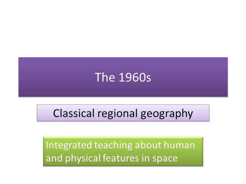 Classical regional geography