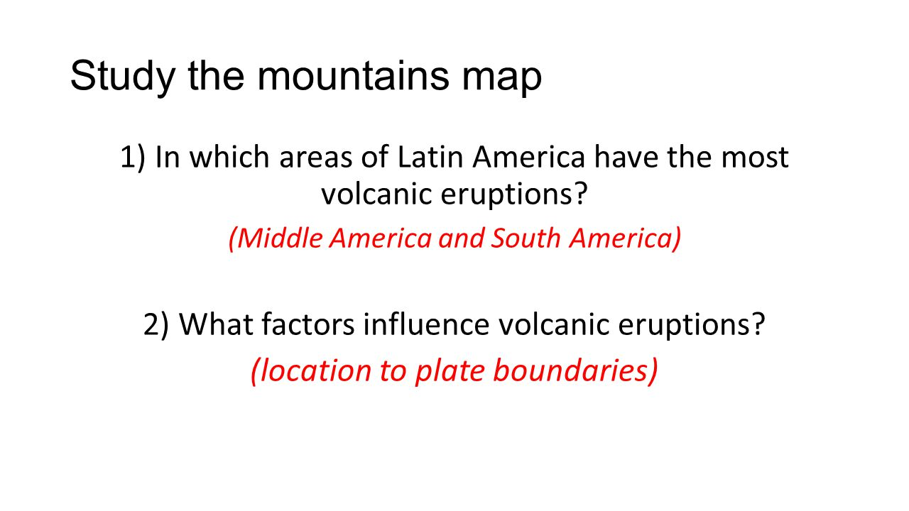 Study the mountains map