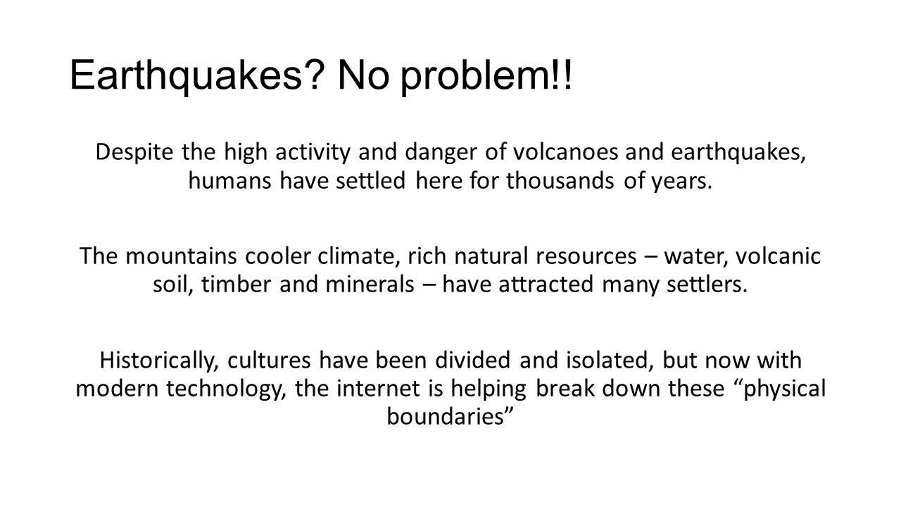 Earthquakes No problem!!