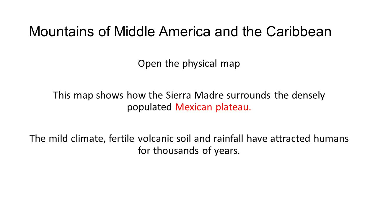 Mountains of Middle America and the Caribbean