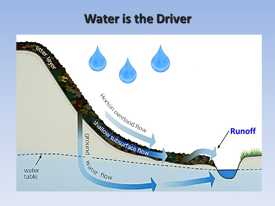 Water is the Driver Runoff