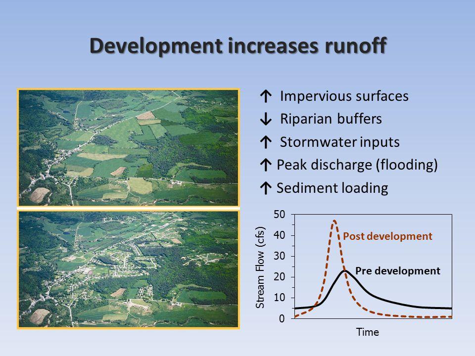 Development increases runoff