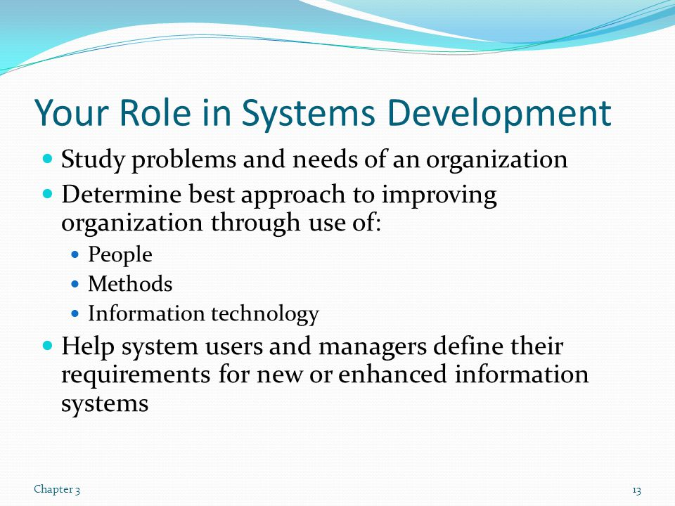 Your Role in Systems Development