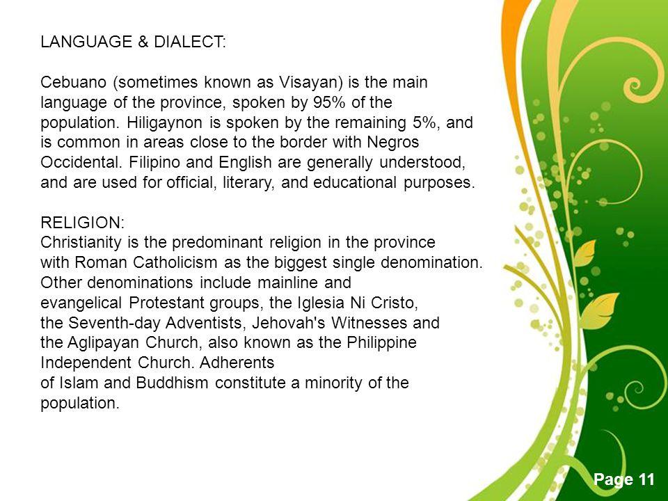 LANGUAGE & DIALECT: