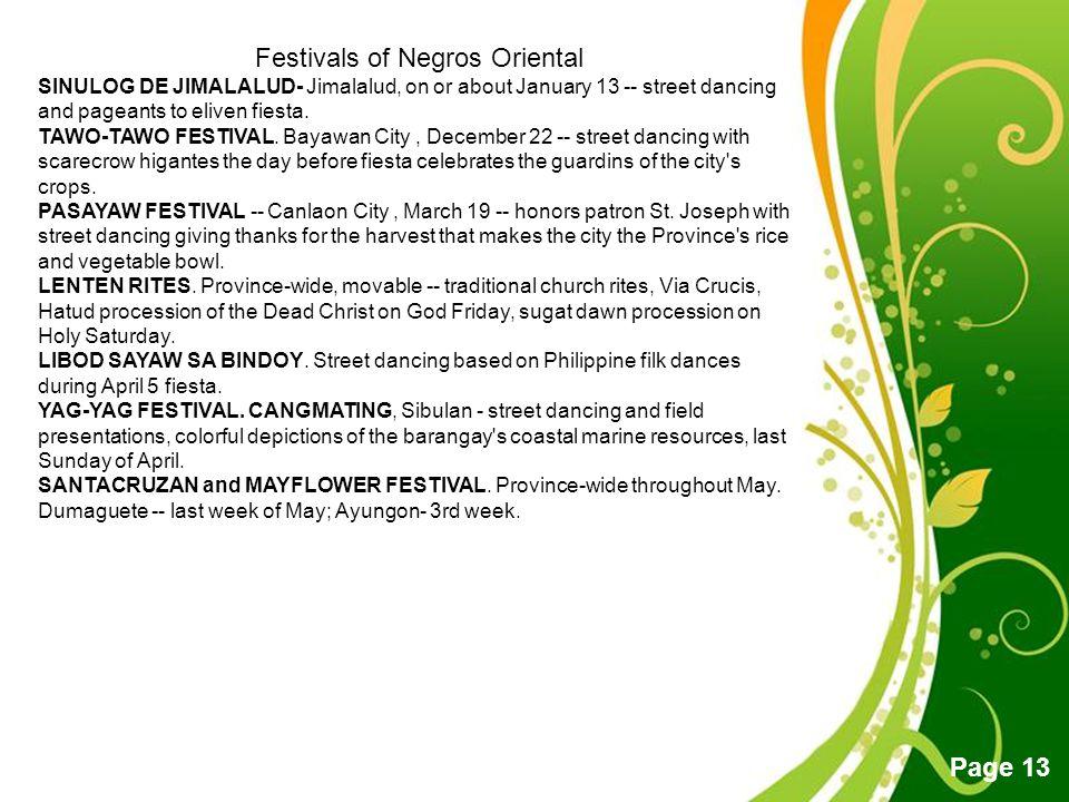 Festivals of Negros Oriental