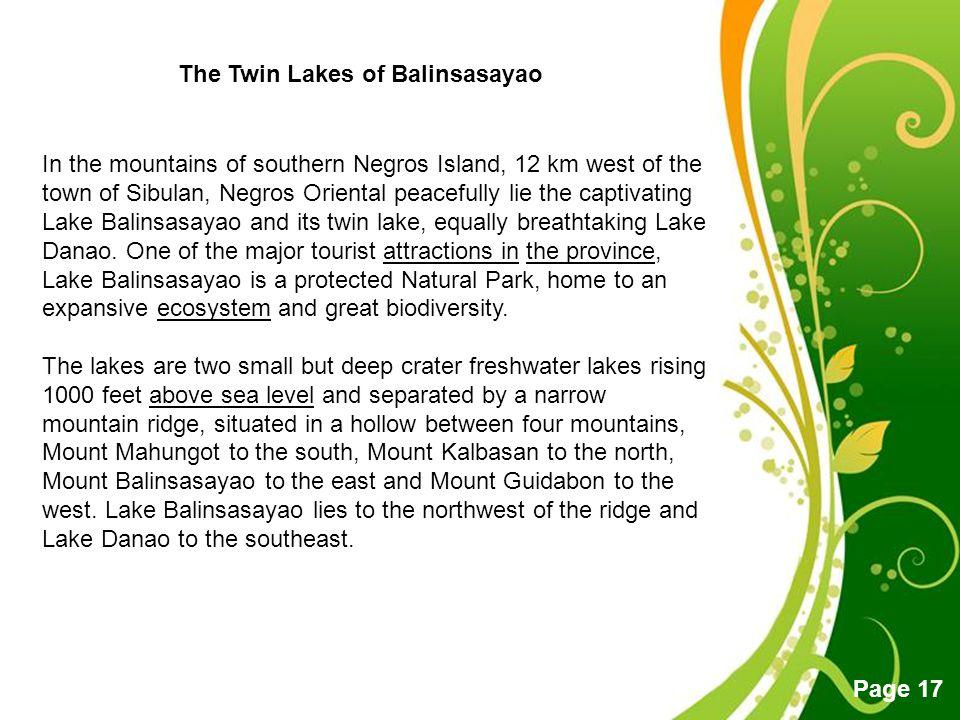 The Twin Lakes of Balinsasayao