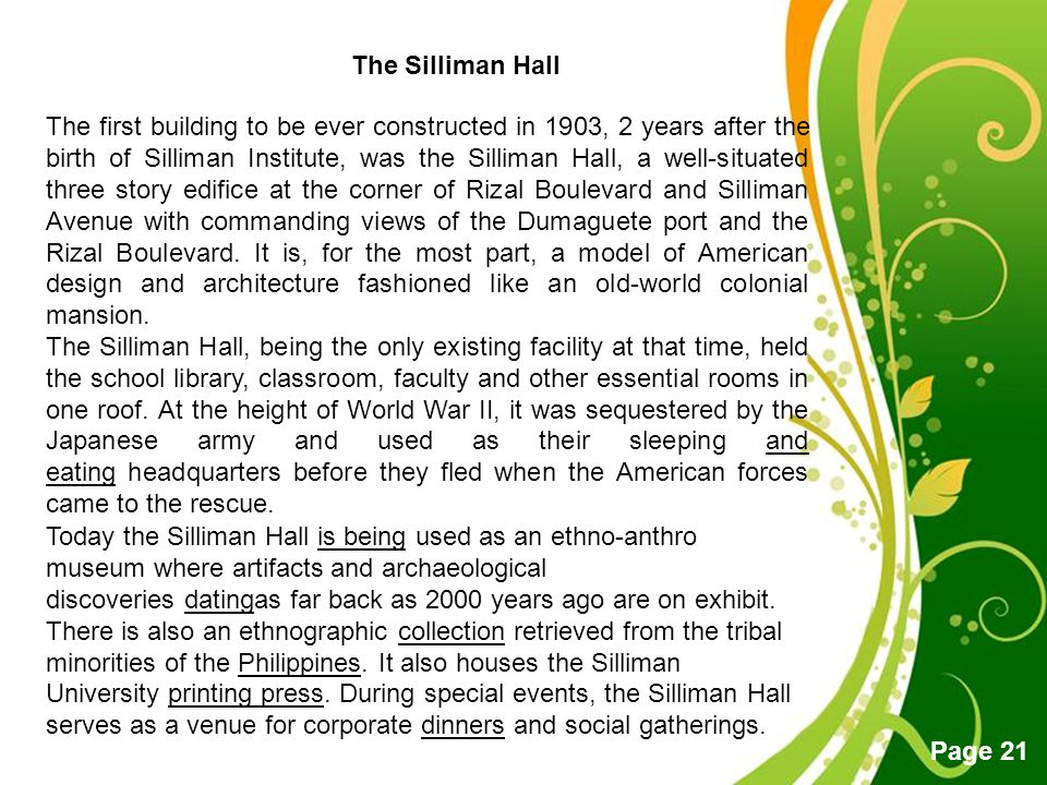 The Silliman Hall