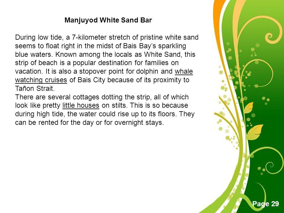 Manjuyod White Sand Bar
