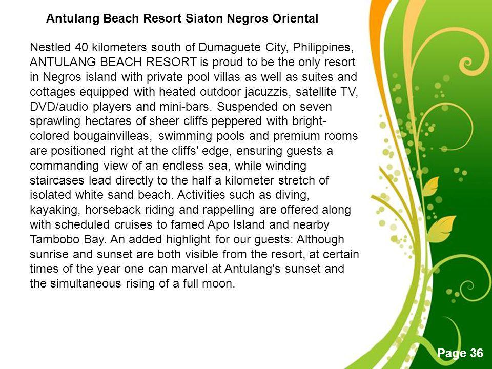 Antulang Beach Resort Siaton Negros Oriental