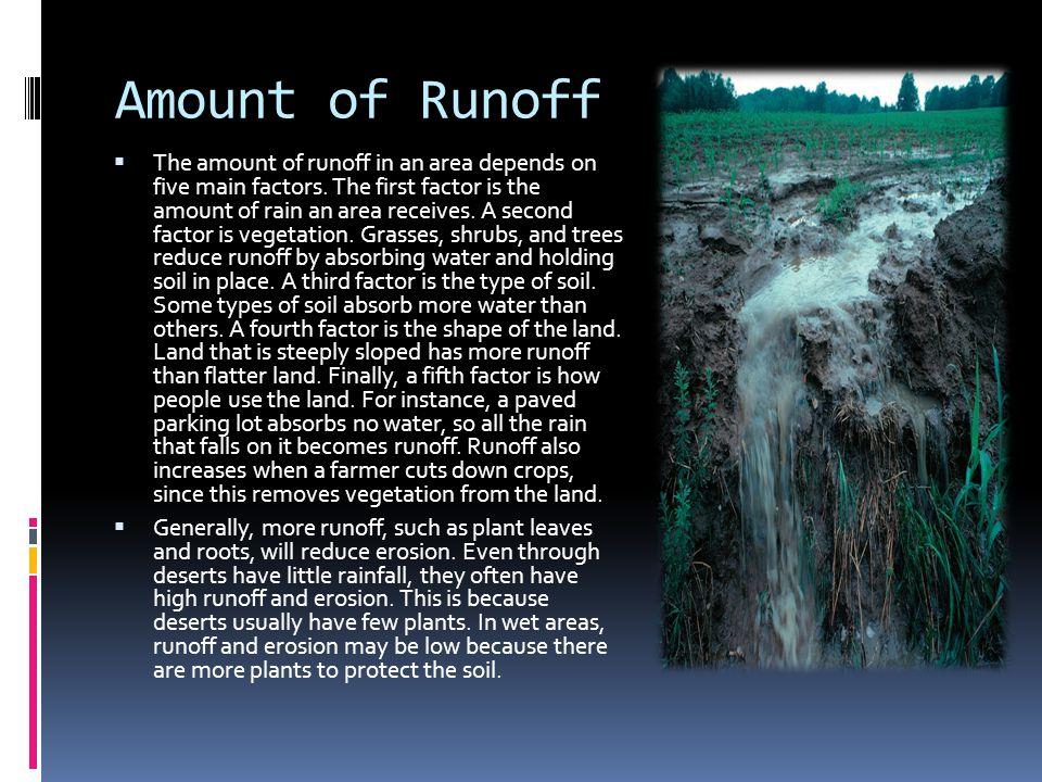 Amount of Runoff