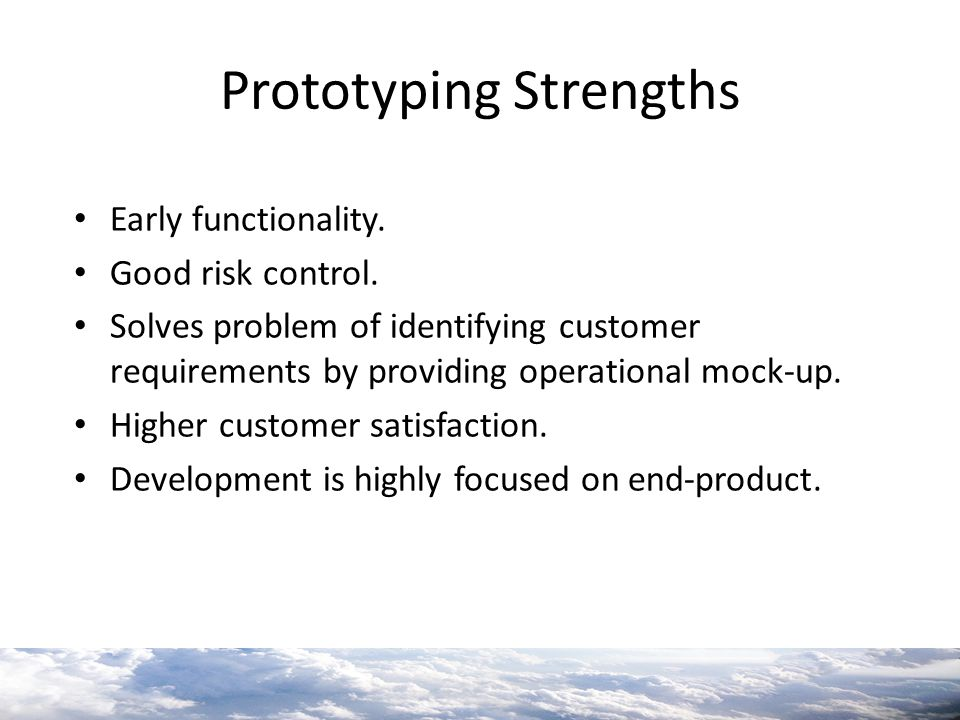 Prototyping Strengths