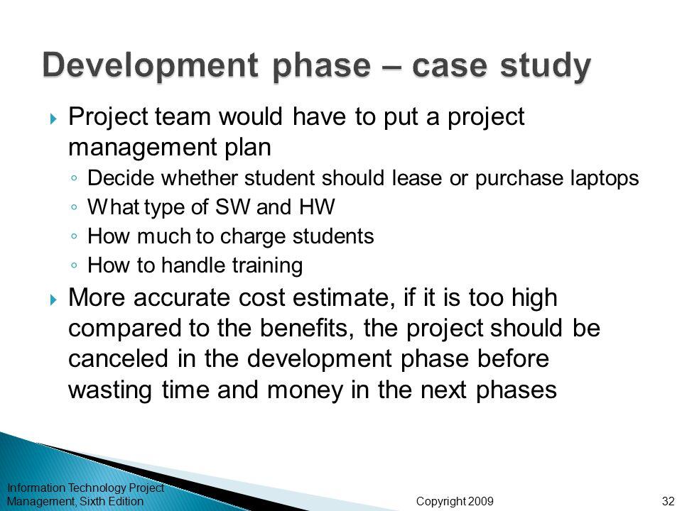 Development phase – case study