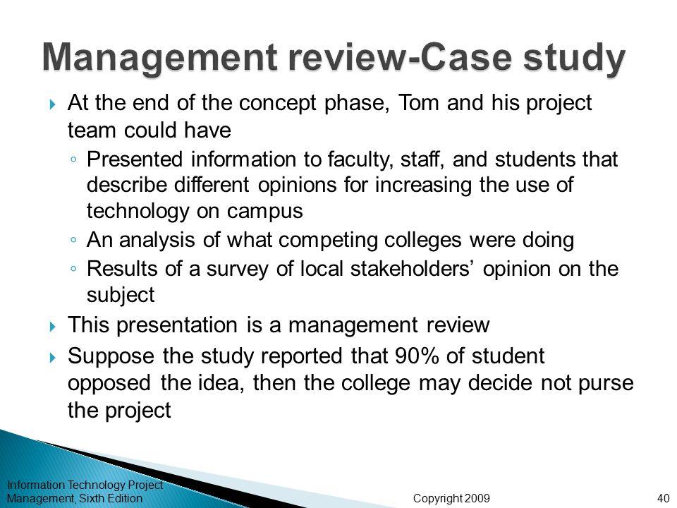 Management review-Case study