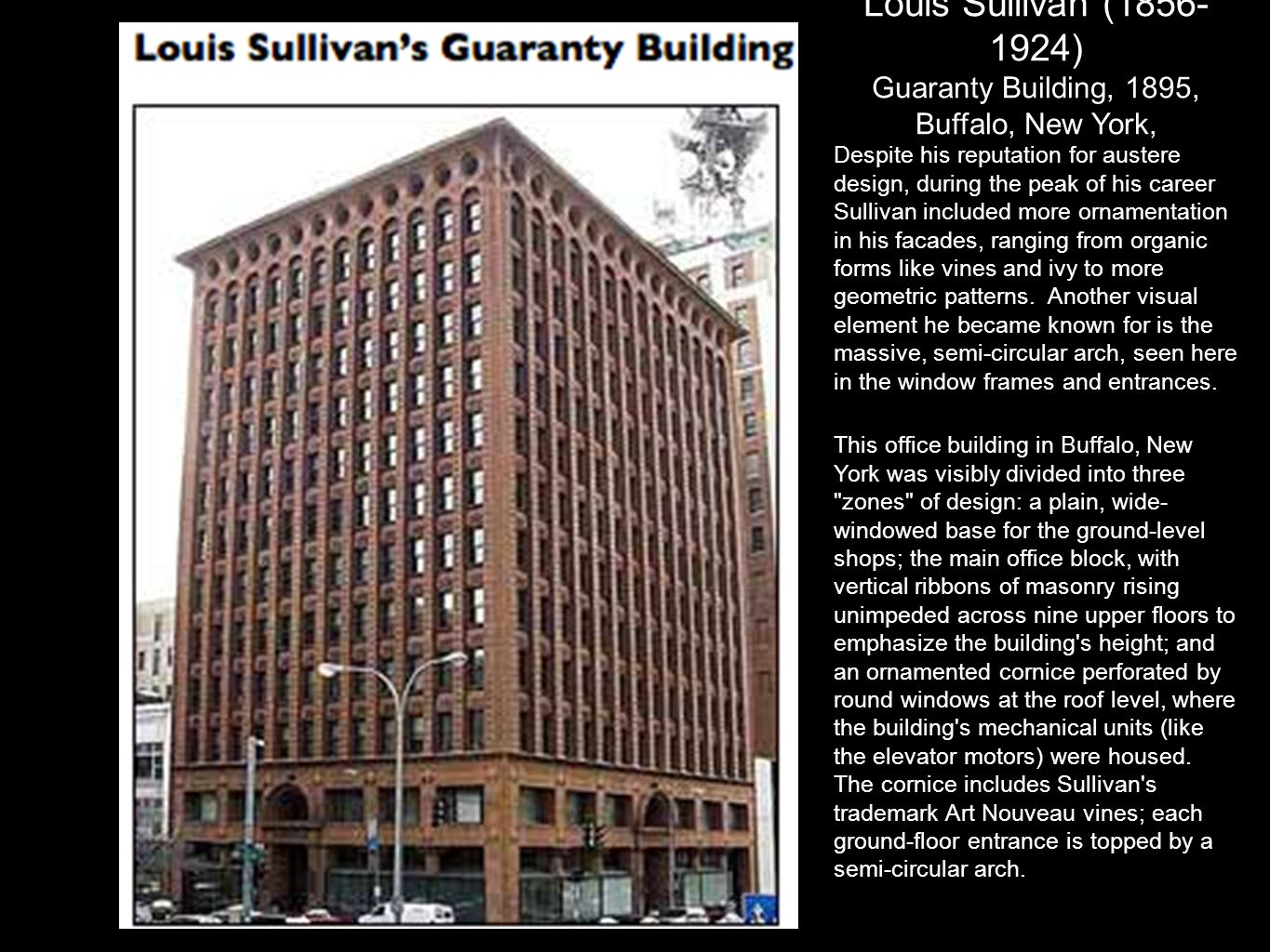Guaranty Building, 1895, Buffalo, New York,