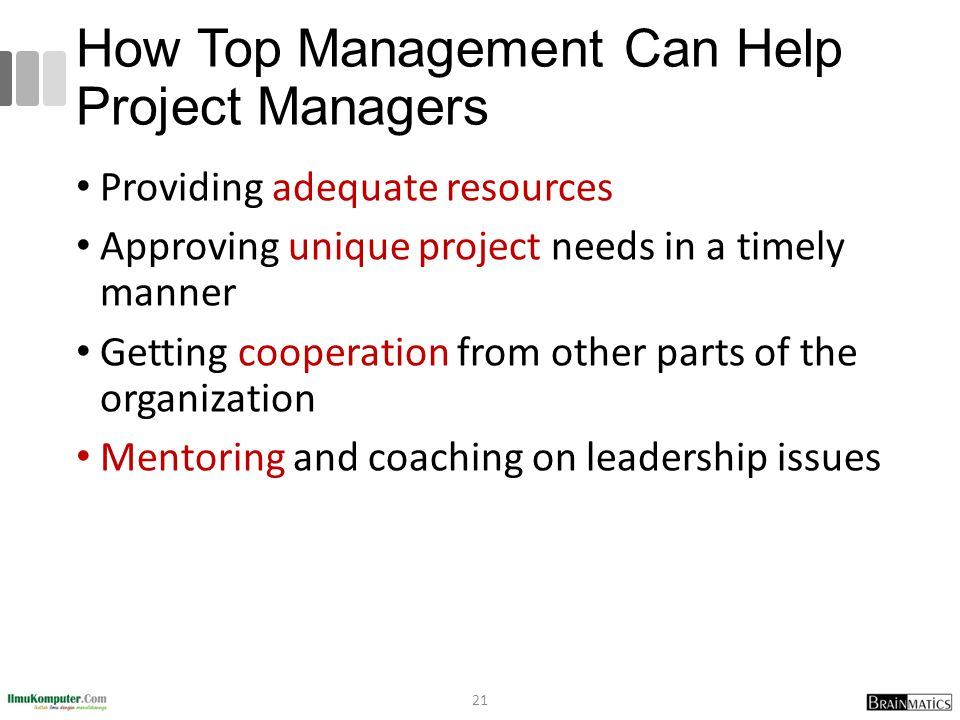 How Top Management Can Help Project Managers